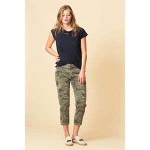 AMO Denim Camo Slouch Trousers Camouflage Green 31